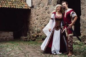 Mittelalterhochzeit Brautpaar
